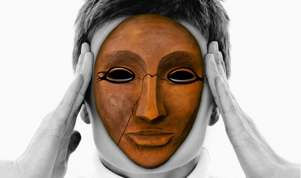 Person wearing a mask - how to be authentic