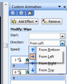 animation wipe