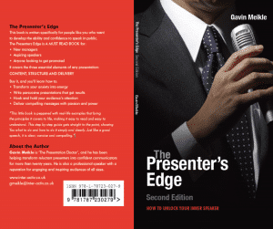 The Presenters Edge - One of the best books on presentation skills