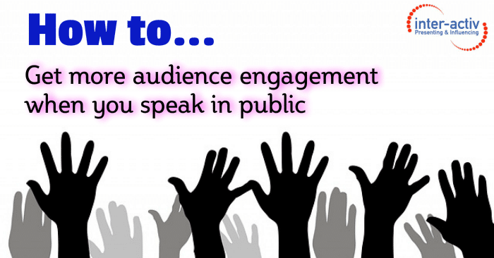 audience engagement ideas - a sea of raised hands