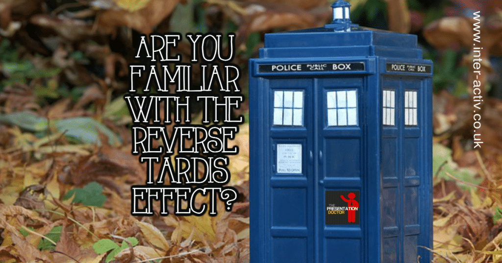 Public Speaking Confidence and The Reverse Tardis Effect