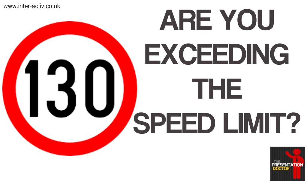 Vocal Variety, are you exceding the speed limit